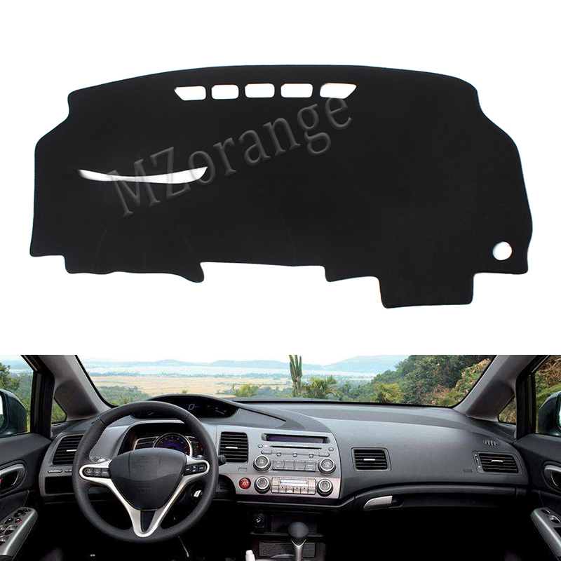 high quality polyester Dashboard Cover Dashmat Dash Mat Pad for Honda Civic 2006 2007 2008 2009 2010 2011 car styling abs spoiler wing for honda civic 2006 2007 2008 2009 2010 2011 primer unpainted