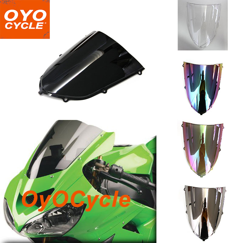 Windshield For Kawasaki Ninja ZX10R ZX-10R 2004-2005 2004 2005 Windscreen Wind Deflectors Motorcycle Motorbike high quality abs plastic for kawasaki ninja zx10r zx 10r 2004 2005 04 05 moto custom made motorcycle fairing kit bodywork c459