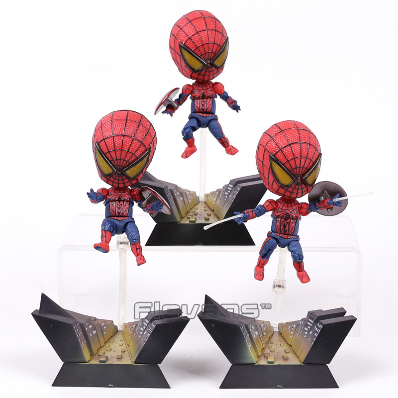 Toys & Hobbies Considerate Spider Man Toy Action Figure Q Veision Pvc Spider-man Doll Car Home Interior Decoration Gifts 3pcs/set Bright In Colour