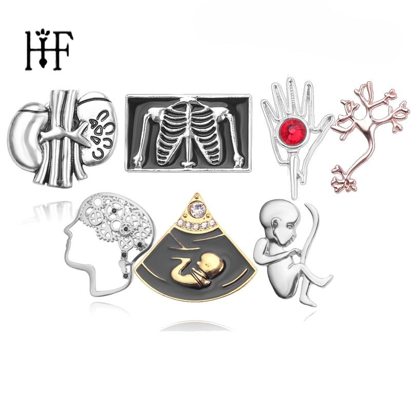 Broche en forme de cœur pour femme, en émail, pour bol de neurologue, seringue d'hygiène, pour nouveau-né
