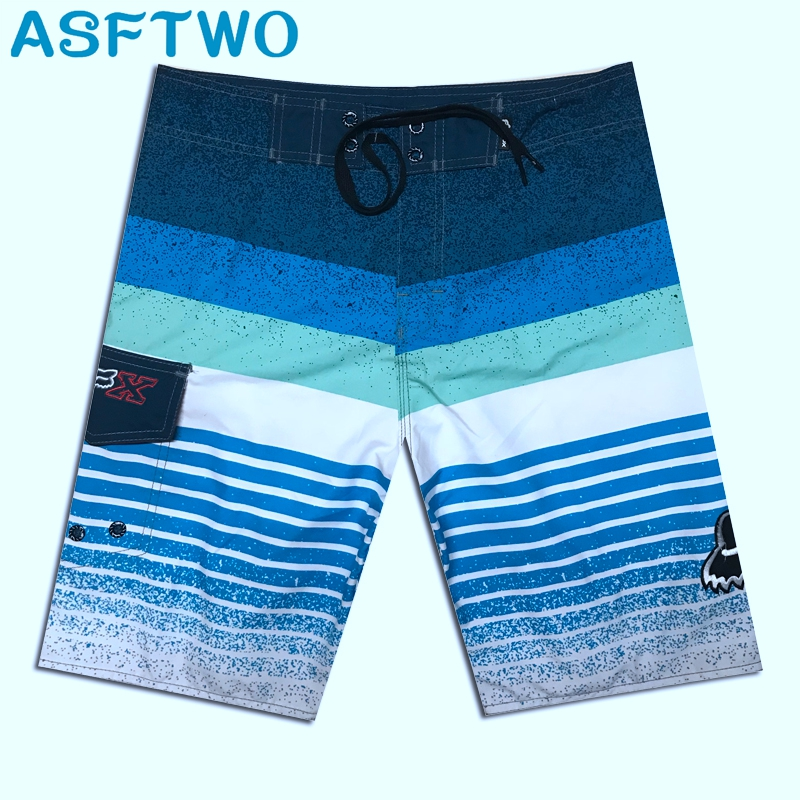Bermudas Masculina De Marca Silver Men's 2019 New Brand   Shorts   Summer Beach Surf Sport Boardshorts gym   Board     Shorts   Quick Dry