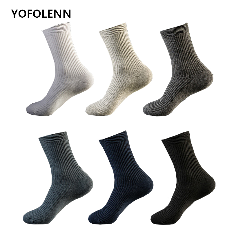 10 pairs/lot Men Socks Brand Classical Crew Dress Cotton Socks Dress Business Casual Breathable Mens Socks