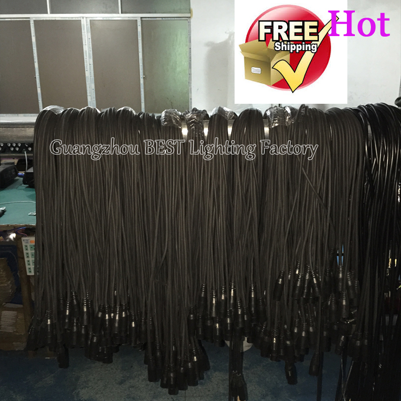 10pcs/lot 1.2m 1.5m 1.8m 2m 2.4m Dmx Cables For Stage Lighting Dmx Power Cable For Prolight Show