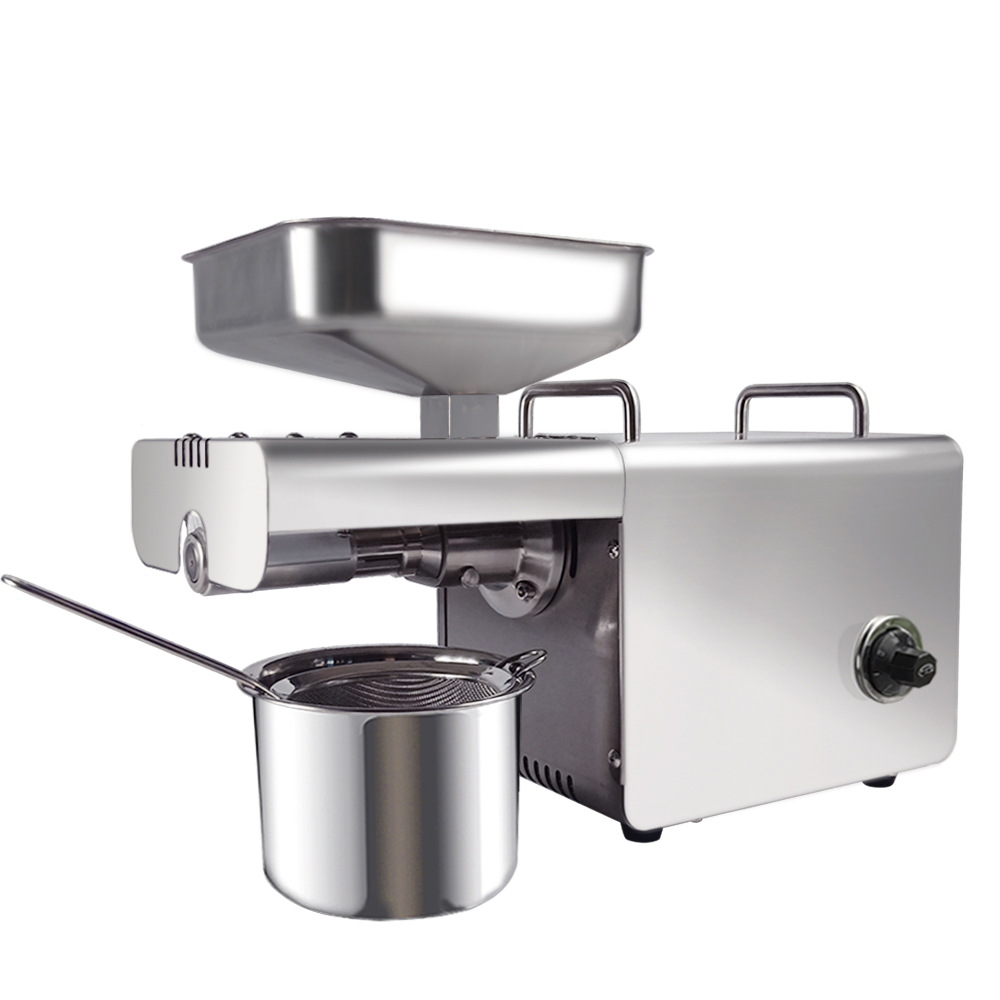 Family Use Coconut Black Seed Automatic Oil Presser Stainless Steel Coconut Oil Press Machine Nuts Seeds Oil Extraction machineFamily Use Coconut Black Seed Automatic Oil Presser Stainless Steel Coconut Oil Press Machine Nuts Seeds Oil Extraction machine