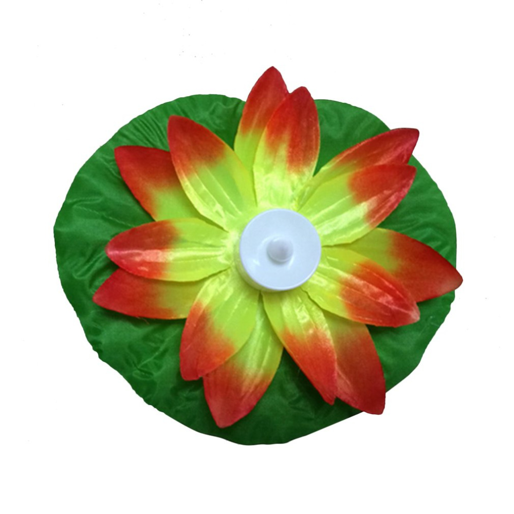 Led Flood Light Artificial Lotus Colorful Changed Floating Flower