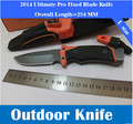 New Pro Fixed Blade Knife  Camping Hunting  Survival Knives Tactical Ultimate Fine Edge & Fire Starter & Diamond Sharpener