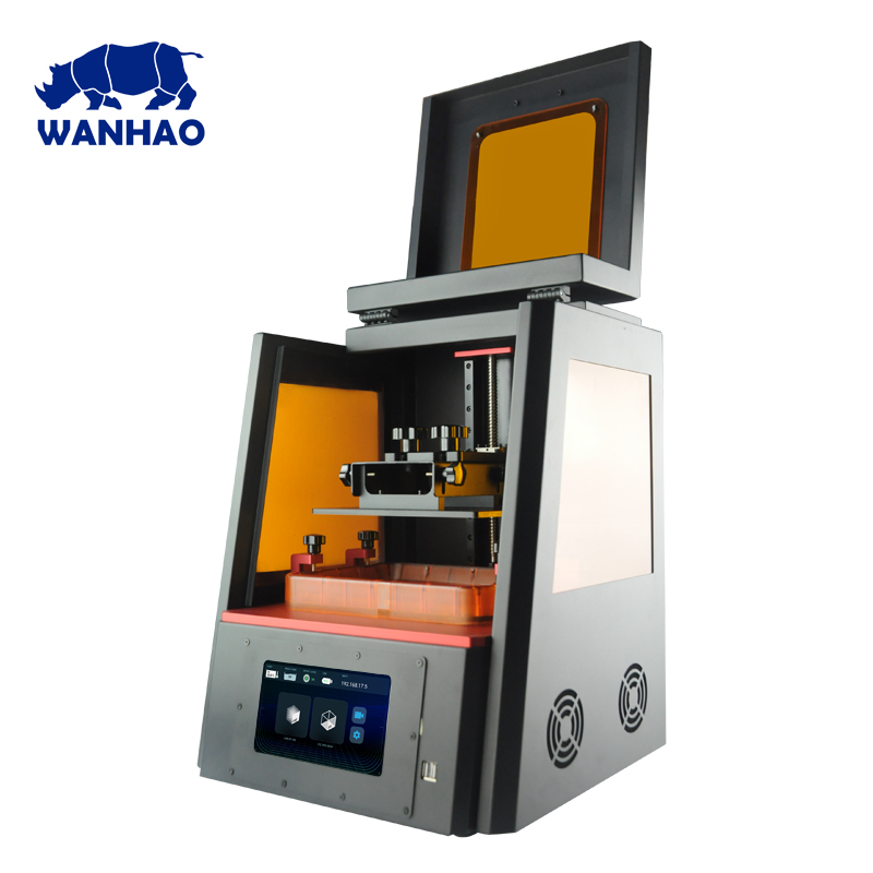 WANHAO Factory Direct Sales 3D Printer D8 DLP LCD Jewelry Dental Color Touch Screen 405nm UV Resin High Precision WiFi Plus Size