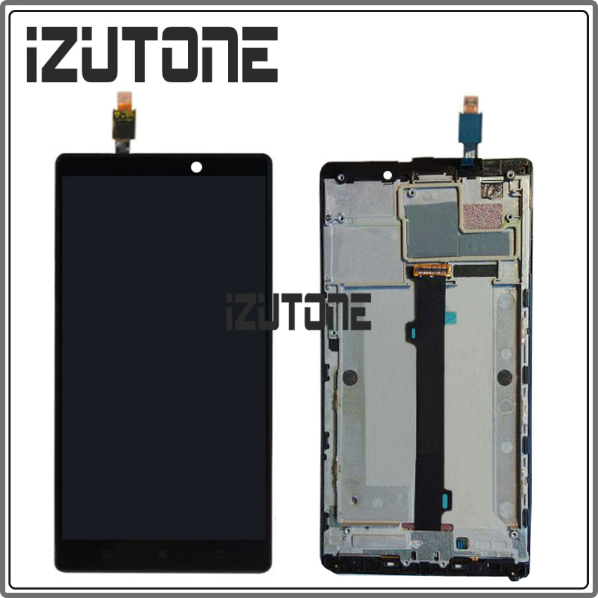 100 Warranty 6 0 LCD Display Screen with touch screen digitizer frame assembly for Lenovo K920