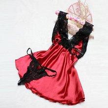 HOT New Fashion Sexy Lingerie Women Nightwear Underwear Babydoll Sleepwear Lace Dress + G-string S3 VM