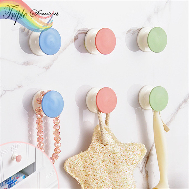 2 Pieces New High Quality Candy Plastic Bathroom Hook Up Creative Accessories Sets
