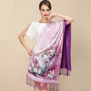 Image 2 - DANKEYISI 2018 Fashion Designer Ladies Big Scarf Women Brand Wraps Real Double deck Thickened Brush Autumn Winter Shawl Scarves