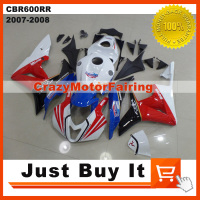High Quality Fit For HONDA CBR600RR 2007 2008 TT Legends Race Version MOTORCYCLE FAIRING KIT Cover