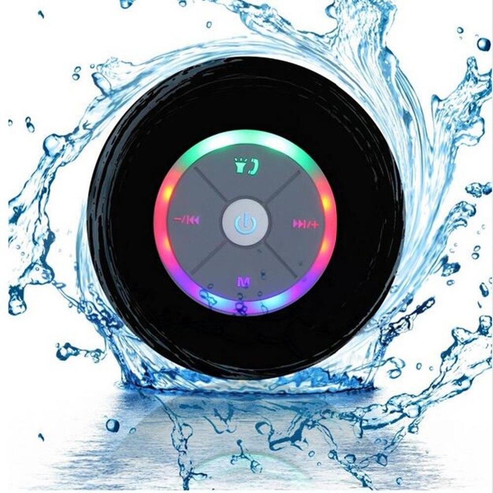 Q9 bathroom waterproof wireless Bluetooth speakers with LED lights, car shower, hands-free speakers