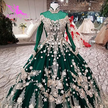 AIJINGYU Princess Style Wedding Dress Sleeves Ball 2021 2020 Muslim Pretty With Sleeves White Near Me Lades Gown Couture Gowns