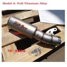 Customize titanium alloy motorcycle exhaust akrapovic escape de motocicleta muffler tip for BMW S1000RR carbon scarico moto