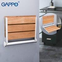 Гаппо настенный сиденье для душа настенный стул для ванной откидное сиденье ванны дерева и Скамья из алюминиевого сплава стены стул для ван...
