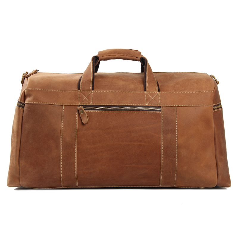 ROCKCOW Super Large Leater Overnight Bag Duffle Bag Лаптоп - Багаж и пътни чанти - Снимка 3
