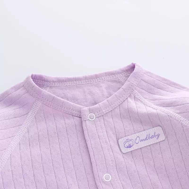 Baru Lahir Gadis Cardigan Bayi Anak-anak Bagian Tipis Katun Cardigan Bayi Pakaian Musim Semi dan Musim Gugur Kemeja 0-2 Tahun tua