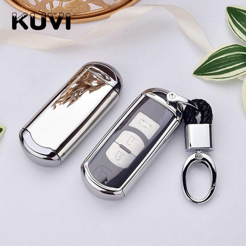 TPU+PC Car Key Cover Case fit for Mazda 2 3 5 6 2017 CX-4 CX-5 CX-7 CX-9 CX-3 CX 5 Accessories