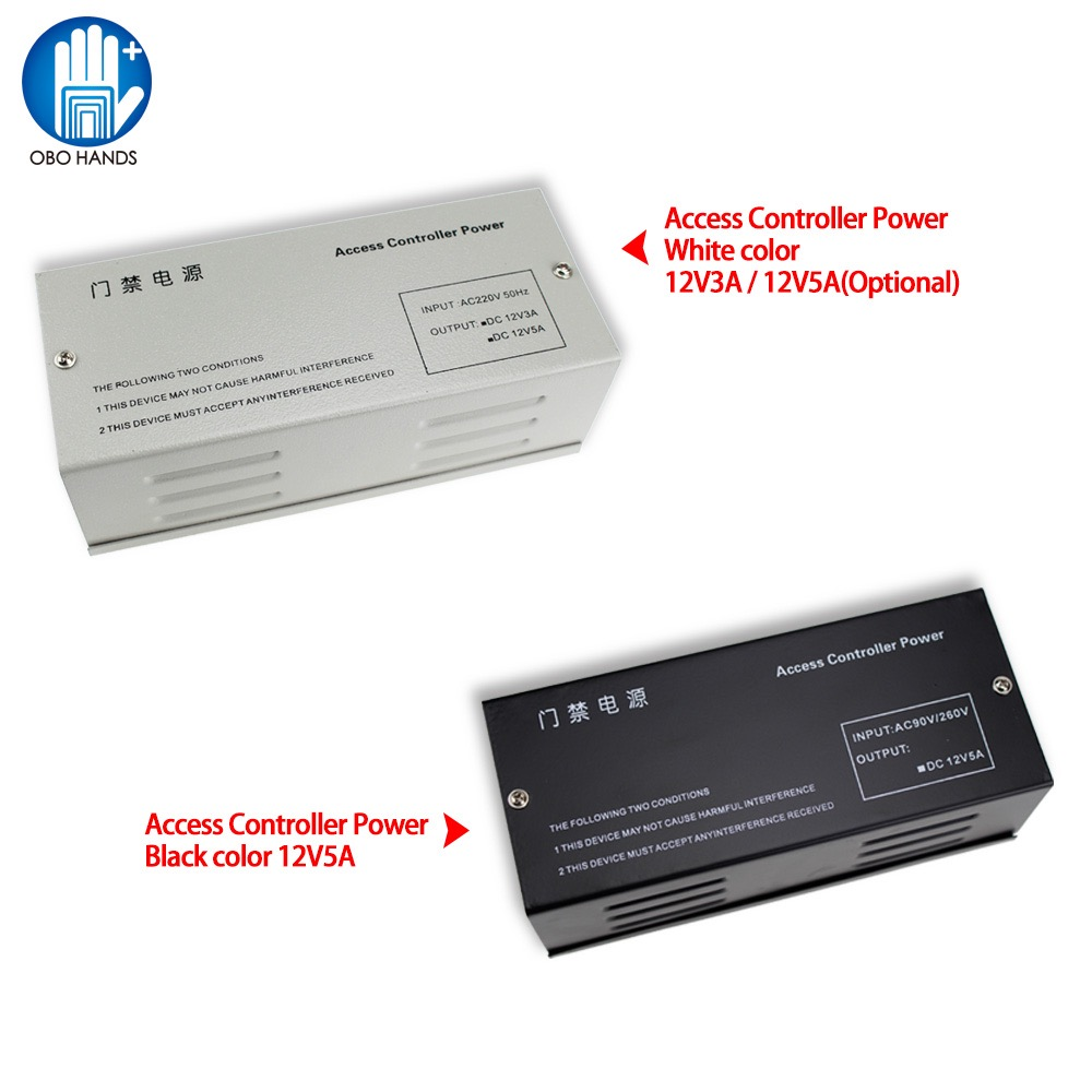 Power supply AC220V 3A/5A Access Control Power Supply 12V DC Transformer for All Kinds of Electric Door Lock with Time Delay diy lock system metal keypadl k2 electric control lock 3a power supply exit button 10pcs key cards wireless remote control