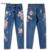 3D Bordado Calça Jeans de Cintura Alta Mulheres 2017 Moda Reta Calças de Jeans Bordado Calça Jeans Mulher