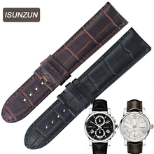 2017 New  Top Brand Mens Watch Straps For IWC Star 4810 Genuine Leather Strap Automatic Series 105858 Watchband Belts