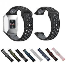 High Quality Silicone Sports Watch Replacement Strap Dual Color for Fitbit ionic