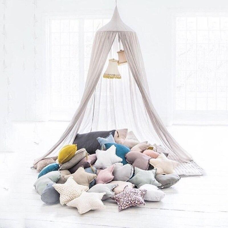 2017 enfants bébé tente berceau filet palais enfants chambre lit rideau accroché dôme moustiquaire coton enfants filles manteau filets