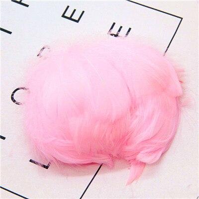 Натуральные перья лебедя 4-7 см 1-2 дюйма маленькие плавающие Шлейфы гусиное перо цветной шлейф для украшения рукоделия 100 шт - Цвет: pink 100pcs