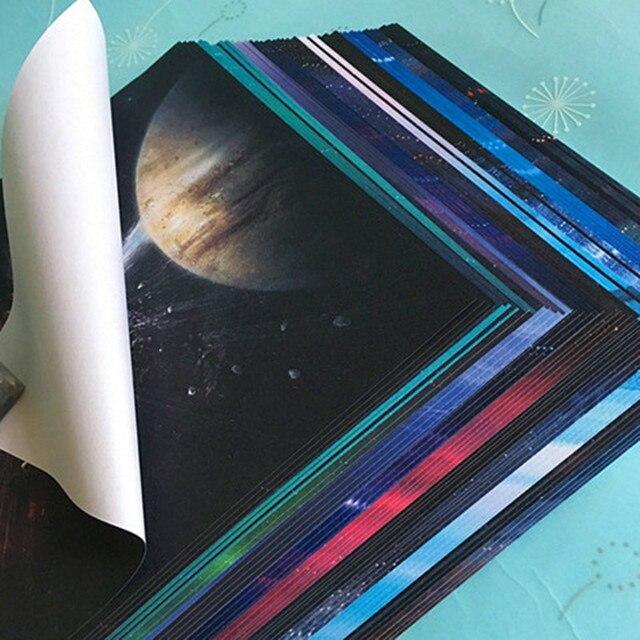 68 pcs Planet Galaxy Bintang Origami Kertas Berwarna Baru Seri Lipat Derek  Origami Kertas DIY Bahan 0b0f55558a