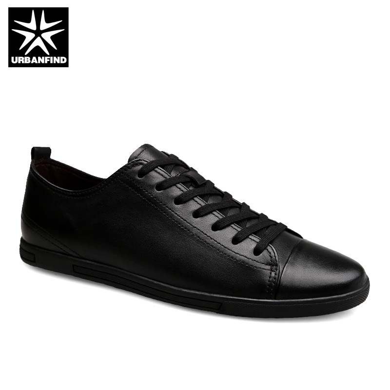Genuine Leather Men Shoes Black / White Footwear Big Size 39-47 High Quality Man Lace-up Casual Sneakers 45 46 47 urbanfind genuine leather men shoes black white footwear plus size 39 47 high quality man lace up casual flats 45 46 47