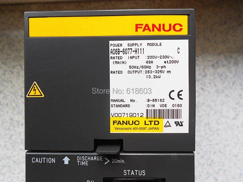A06B-6077-H111 FANUC POWER  MODULE SERVO DRIVE AMPLIFIER