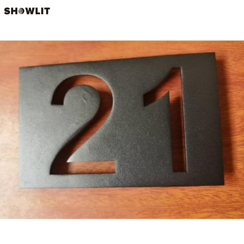 House Number Custom Black House Address Plaque custom modern house address number sign plaque