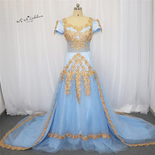 0d4244134965f High Quality Blue Gold Prom Dress Promotion-Shop for High Quality ...