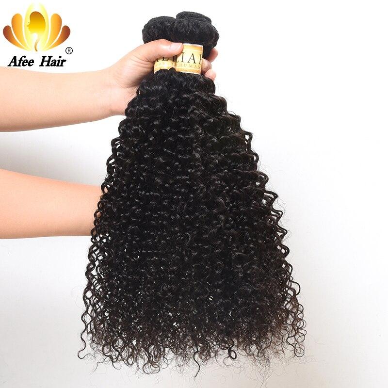 Aliafee Malaysian Kinky Curly Hair Weave 3 Bundles Deal Malaysian Hair Kinky Curl 100% Human Hair Non Remy Hair