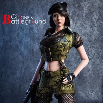 """18XG13A/B 1/6 Female Sexy Soilder Clothes Set with Accessories Battlefield Girl Clothing Set Model for 12"""" Action Figure Body"""