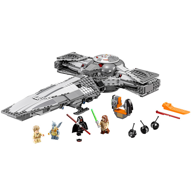 Lepin Star Wars 2017 Force Awakens Sith Infiltrator Building Blocks ABS Plastic Self-Locking Bricks Education Toys