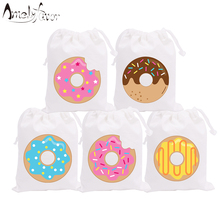 Donut Theme Birthday Party Favor Bags Tea Time Candy Bags Gifts Bags Kids Birthday Party Decor Supplies Baby Shower Custom-made