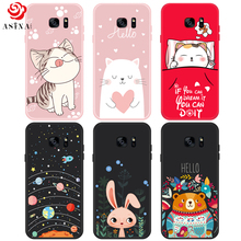 ASINA Cute Cartoon Case For Samsung Galaxy S7 Cover 3D Relief Silicone Shockproof Fundas Edge Animal Bumper