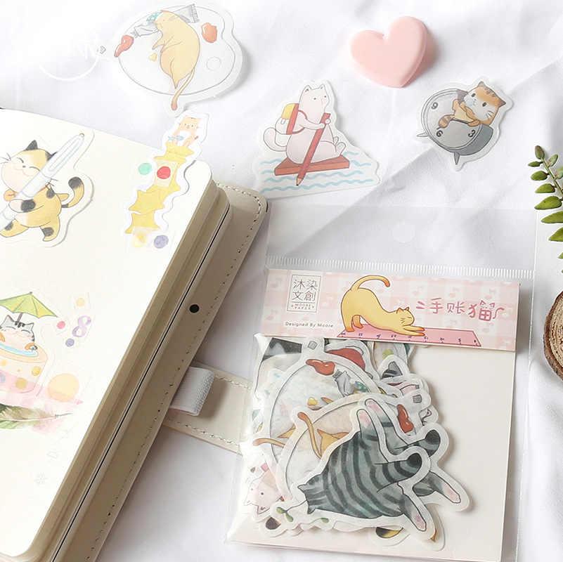 Вишня, Сакура Кот жизнь пуля журнал Декоративные Канцелярские наклейки Скрапбукинг DIY Дневник Stick