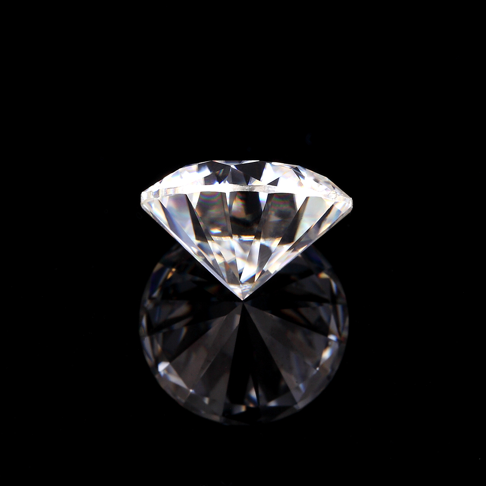 NiceGems Moissanite 0.25CTW Round Excellent Hearts And Arrows Cut Colorless 4MM F Color lab Grown Diamond loose Stone VVS1 3