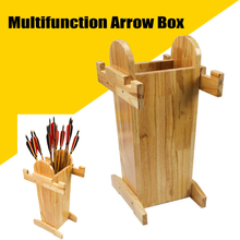 Archery Equipment Multi-Function Bow and Arrow Wooden Box Stand Combination Outdoor Hunting Project