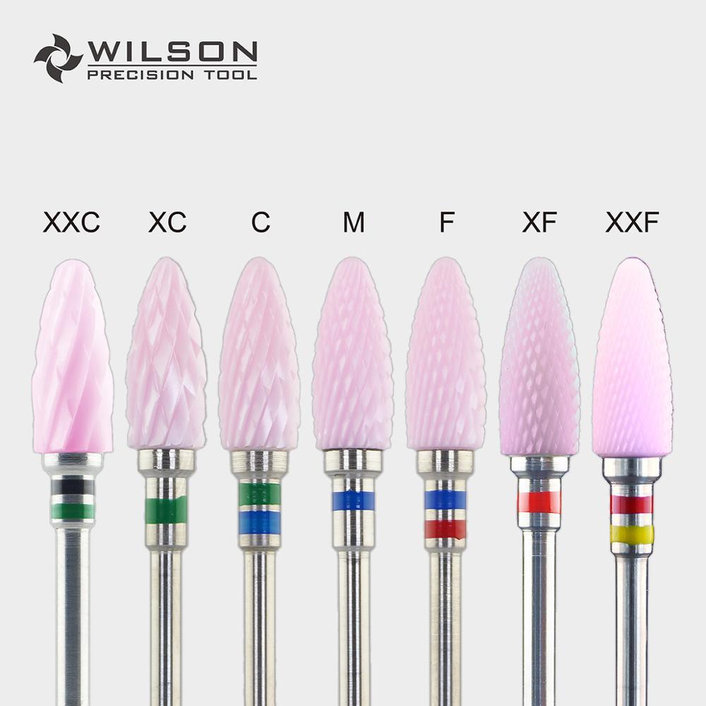 Bullet Shape - 6.0mm - Cross Cut - Pink Zirconia Ceramic Dental Lab Burrs - WILSON PRECISION TOOL