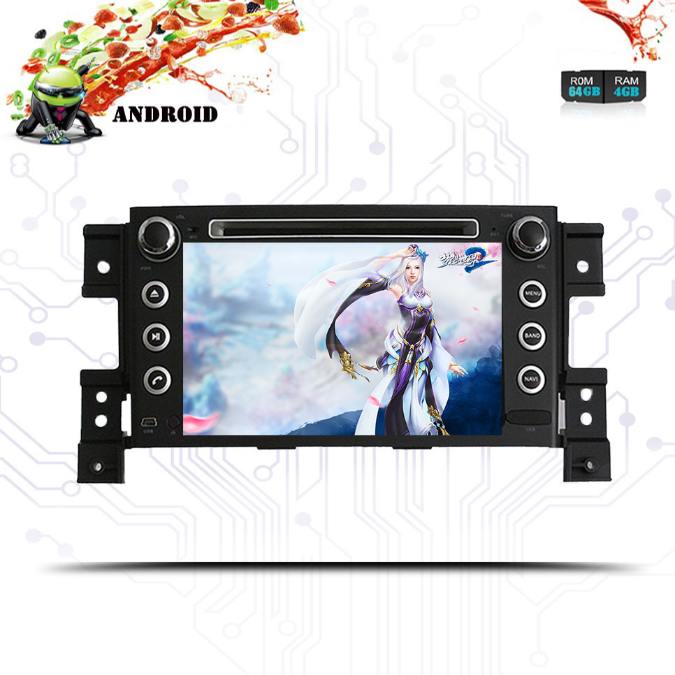 Android 9.0 PX5 Car dvd radio for Suzuki grand vitara 2006 2008 2010 2012 with gps navigation audio video music player 4GB Ram