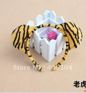 Free shipping,SALE ,COSPLAY animal ear headband,discount tiger ear headband,christmas headband,party favors for children