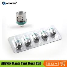 Original ADVKEN Manta Tank Mesh Coil 0.16ohm 0.2ohm sub ohm atomizer mesh coil core head for Advken MANTA Tank atomizer