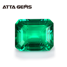 Green Columbian Emerald Loose Gemstone Classic Emerald Cut Hydrothermal Emerald 8mm*10mm 2.7 Carats For Jewelry Design