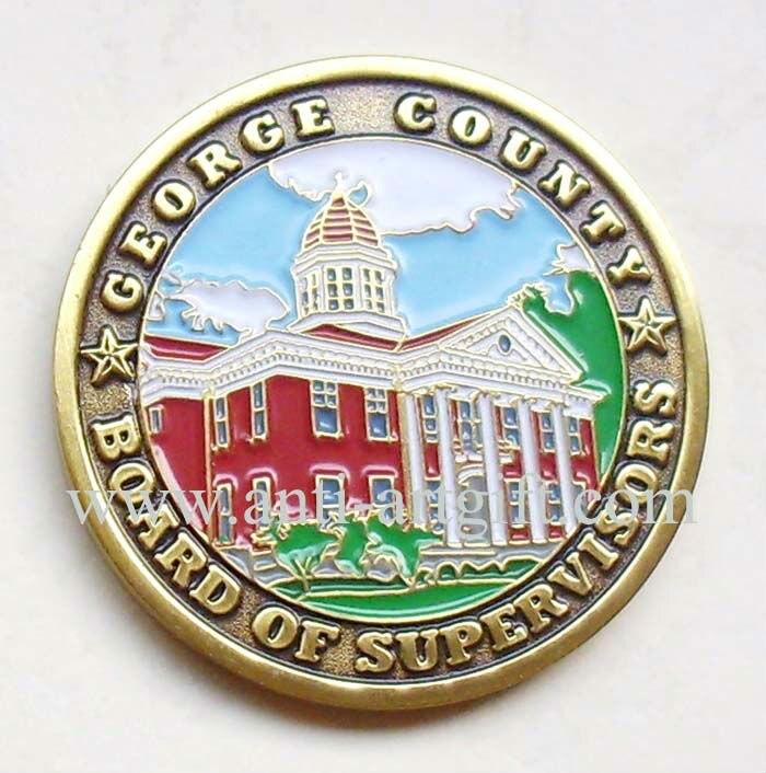 Индивидуальные штампованные эмалированные монеты
