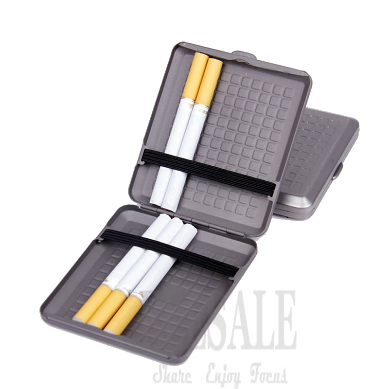 High Quality Portable Titanium Cigarette Case Cigar Holder Pocket Storage Safe Box Light Weight Outdoor EDC Tool stylish lichee pattern portable cigarette case card holder black holds 14 pcs