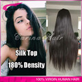 "4""x4"" Silk Top 180% Density Full Lace Human Hair Wigs Straight Peruvian Virgin Human Hair Lace Front Wig with Silk Base"